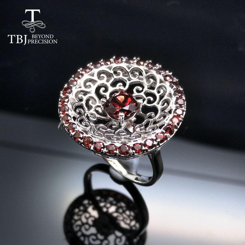 Tbj,2017 stylish Mozambique Red Garnet gemstone Rin