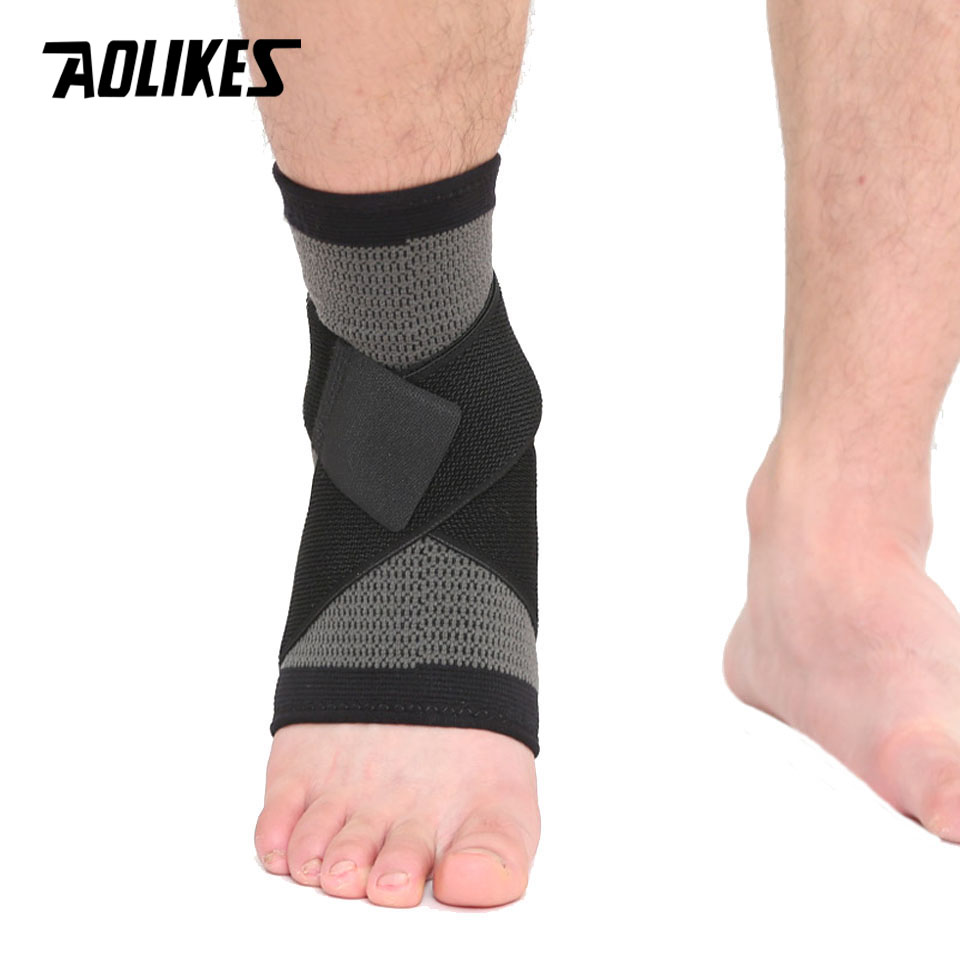 cc0500723a 1PCS Elastic Bandage Support Ankle Protector For Sport Gym Ankle Brace With  Strap Belt achilles tendon retainer Foot Guard-in Ankle Support from Sports  ...