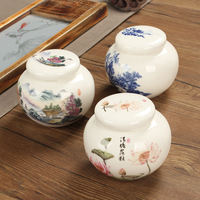 16 styles mini tea pot Blue and white porcelain tea storage jar tea caddy container ceramic jar kitchen canister set with lid