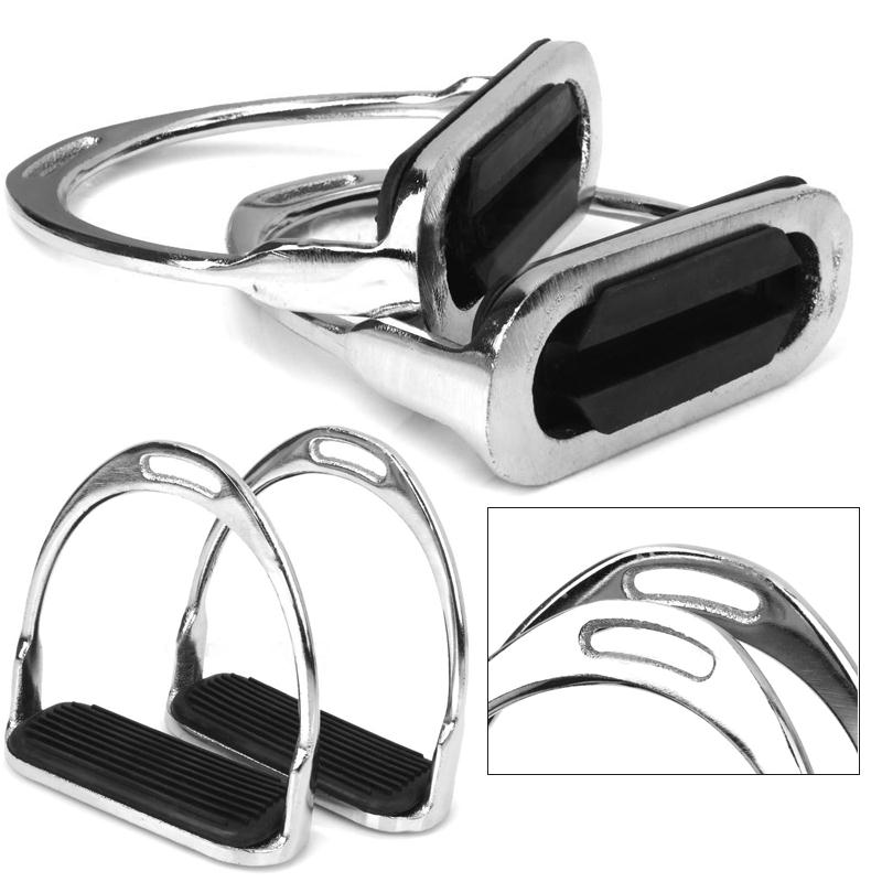 1 Pair Safety Stirrups Horse Riding Rubber Treads Equestrian Accessories Outdoor Tool ...