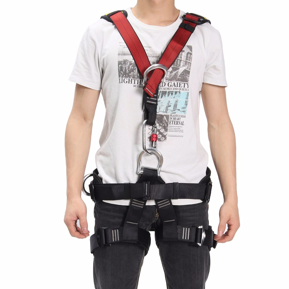 Outdoor Rescue Rock Climbing Sitting Bust Belt Safety Seat Rappelling Harness Workplace Safety hot sale safety body harness outdoor mountaineering rock climbing harness protect waist seat belt outside multi tools