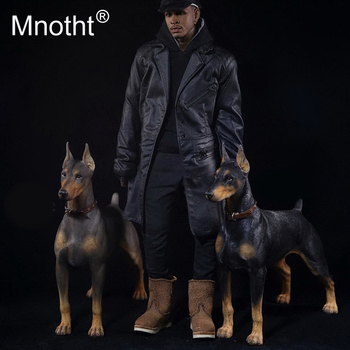 Mnotht 1/6 Scale Doberman Pinscher Model Collections Toys Resin Animal Dog For 12in Action Figure Accessories - discount item  7% OFF Action & Toy Figures