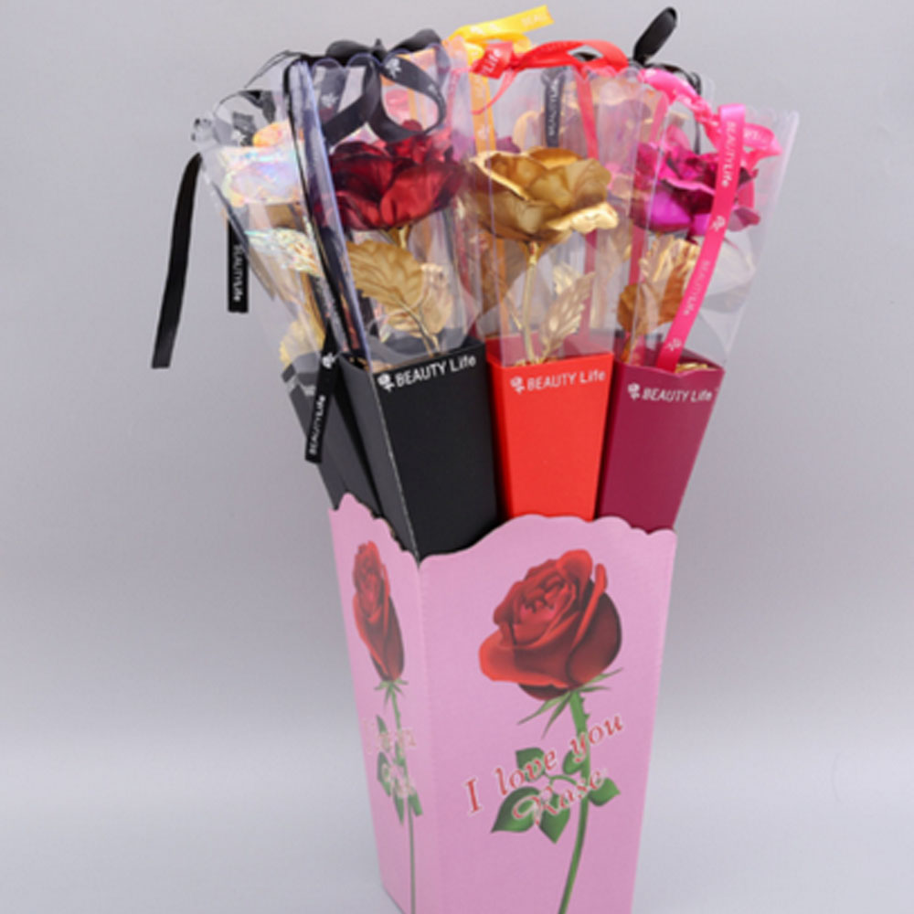 Gold Plated Rose 24K Dipped Flower Valentine/'s Day Love Gift For Her Decoration