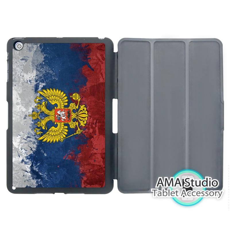 купить Flag Of Russian Federation Kingdom Case For Apple iPad Mini 1 2 3 4 Air Pro 9.7 Stand Smart Folio Cover дешево