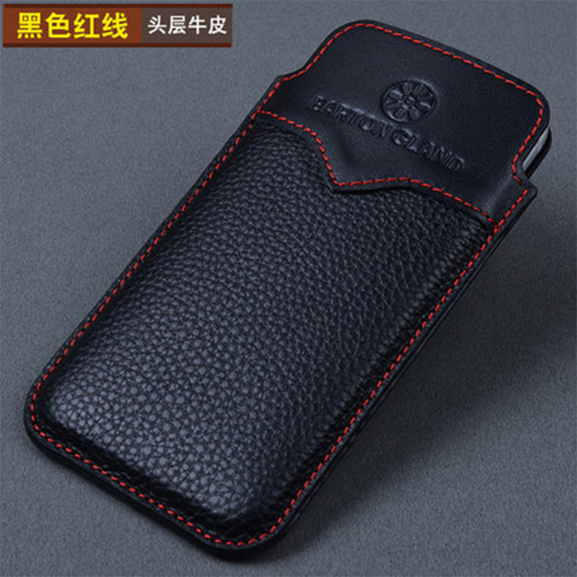 Promotion Genuine Leather Phone Pouch for Apple iPhone 8 8plus 7plus Handmade Luxury Bag Cover for iPhone X Case for iPhone7