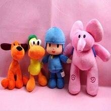 4 шт./лот, полный набор, Pocoyo Elly& Pato& POCOYO& Loula, плюшевые игрушки, мягкие игрушки, игрушки, куклы для детей, рождественские подарки