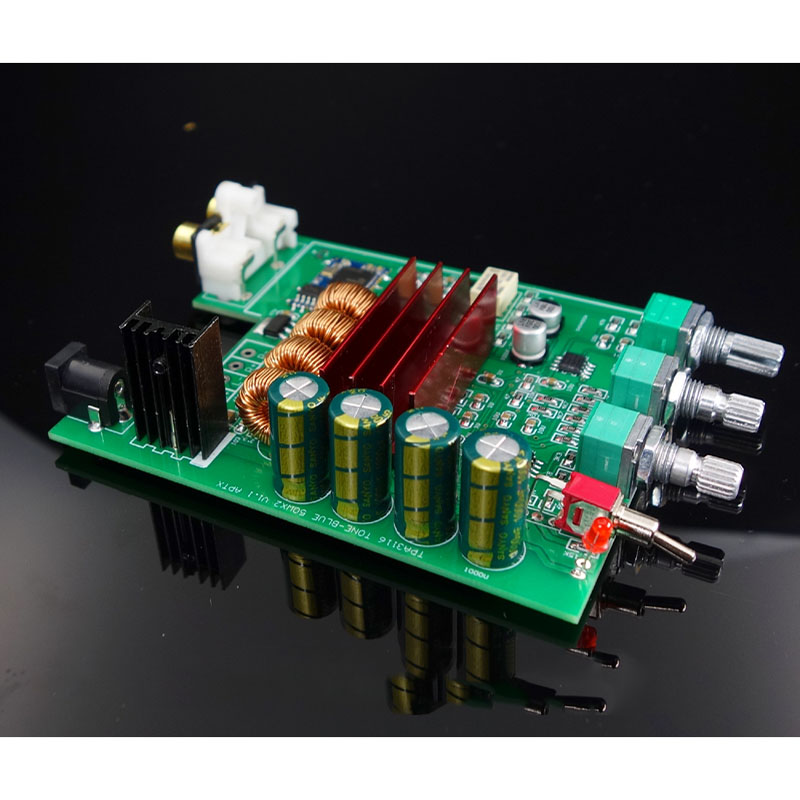 Image 3 - TPA3116D2 Bluetooth 5.0 Amplifier Audio Board 50W*2 Tweeter Bass adjustment Car Home Theater Digital Amplifiers NE5532 With AUX-in Amplifier from Consumer Electronics