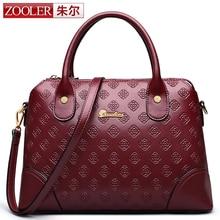 Stilvolle frauen tasche! zooler echtem leder tasche top griff rindsleder handtaschen marke einfachen eleganten tasche 2016 bolsa feminina #6939