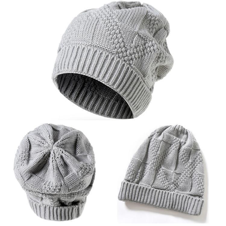 Europe and America Unisex Fall and Winter Warm Knitted Beanies Hat Men and Women Skullies Ski Cap 6 Colors ht82210 unisex women men knit skullies beanies solid winter warm oversize ski cap hat