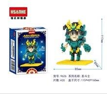HSANHE 9626 Saint Seiya Series SHIRYU Warrior Education Minifigure Diamond Bricks Minifigure Building Block Toys Gift