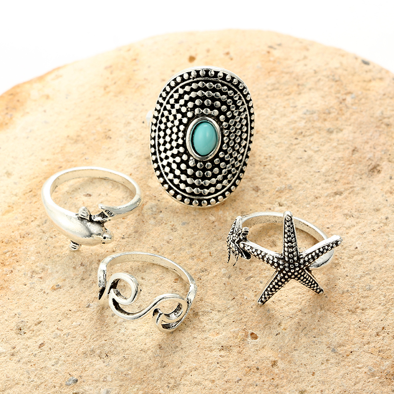 Back To Search Resultsjewelry & Accessories Docona Bohemian Antique Silver Green Rhinestone Ring Geometric Starfish Wave Knuckle Rings Midi Finger Anel Rings Jewelry 6734