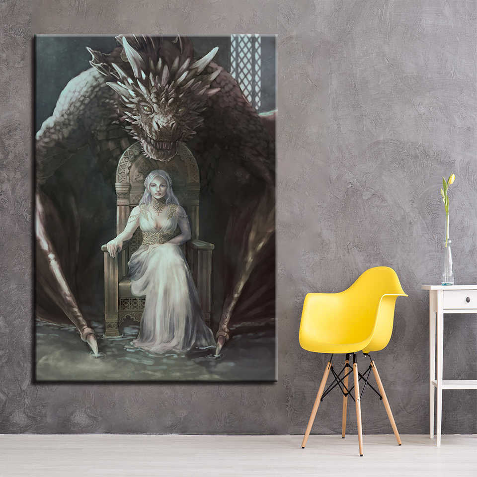 Modern Canvas Paintings Home Decor Wall Art 1 Piece Pcs Game Of Thrones Pictures For Living Room Hd Printed Posters Framework