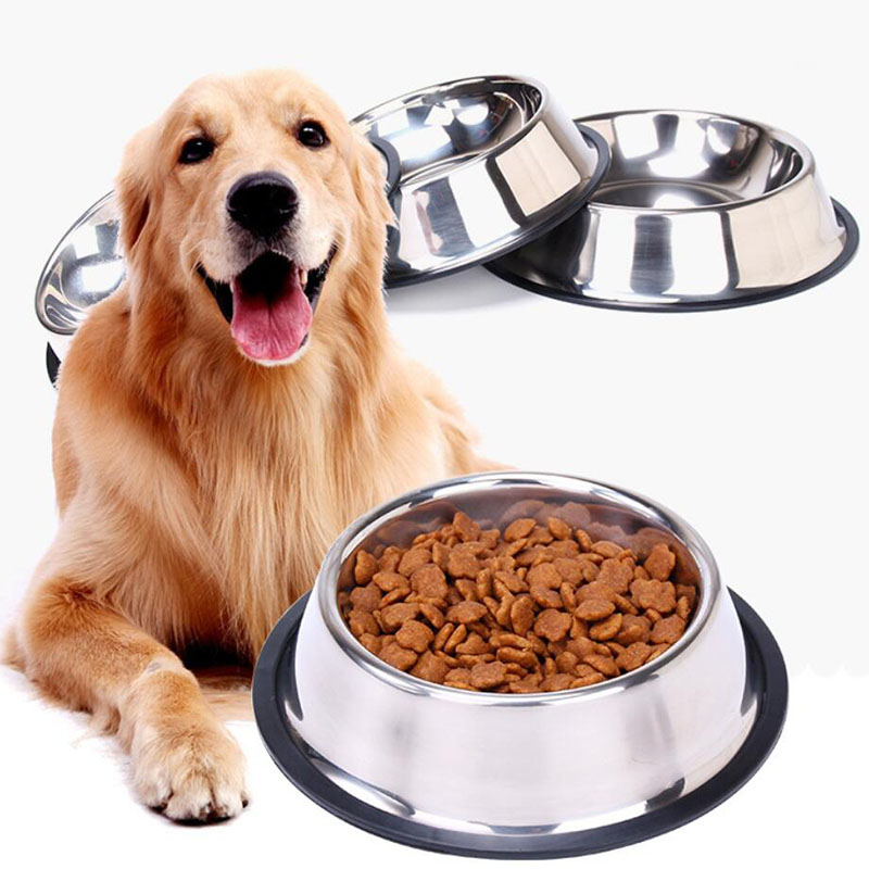 Stainless Steel Pet Dog Bowl Food Storage Container Dog Food ...
