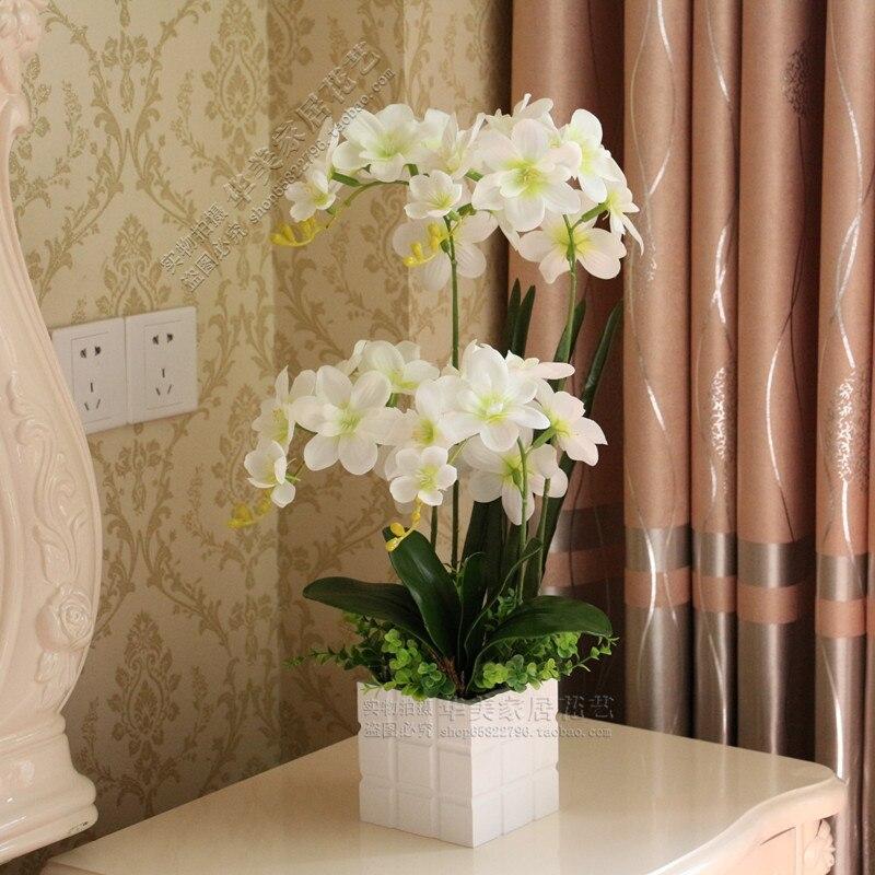 achetez en gros blanc orchidée vase en ligne à des