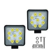 Светодиодный квадратный рабочий светильник 27 Вт, 6000 К, лм