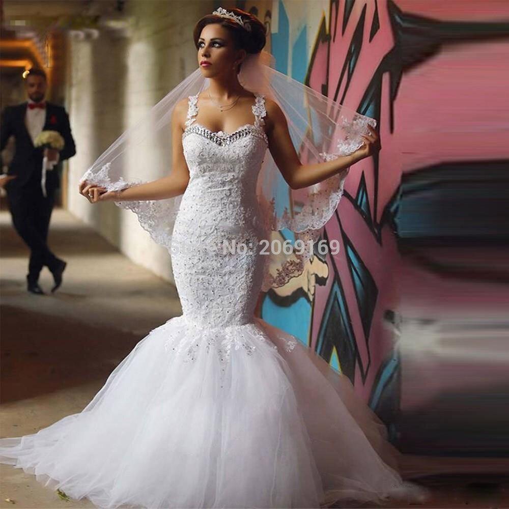 Más Sexy Vestidos de Novia Sin Espalda Pura Beads Applique de Tulle ...