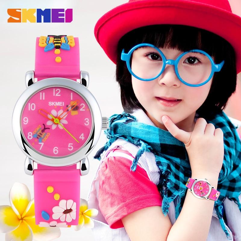 SKMEI Brand Cool Cute Kids Watches Red 3D Cartoon Watch For Kids Children Students Quartz Wrist Watch Orologi Montre Relojes