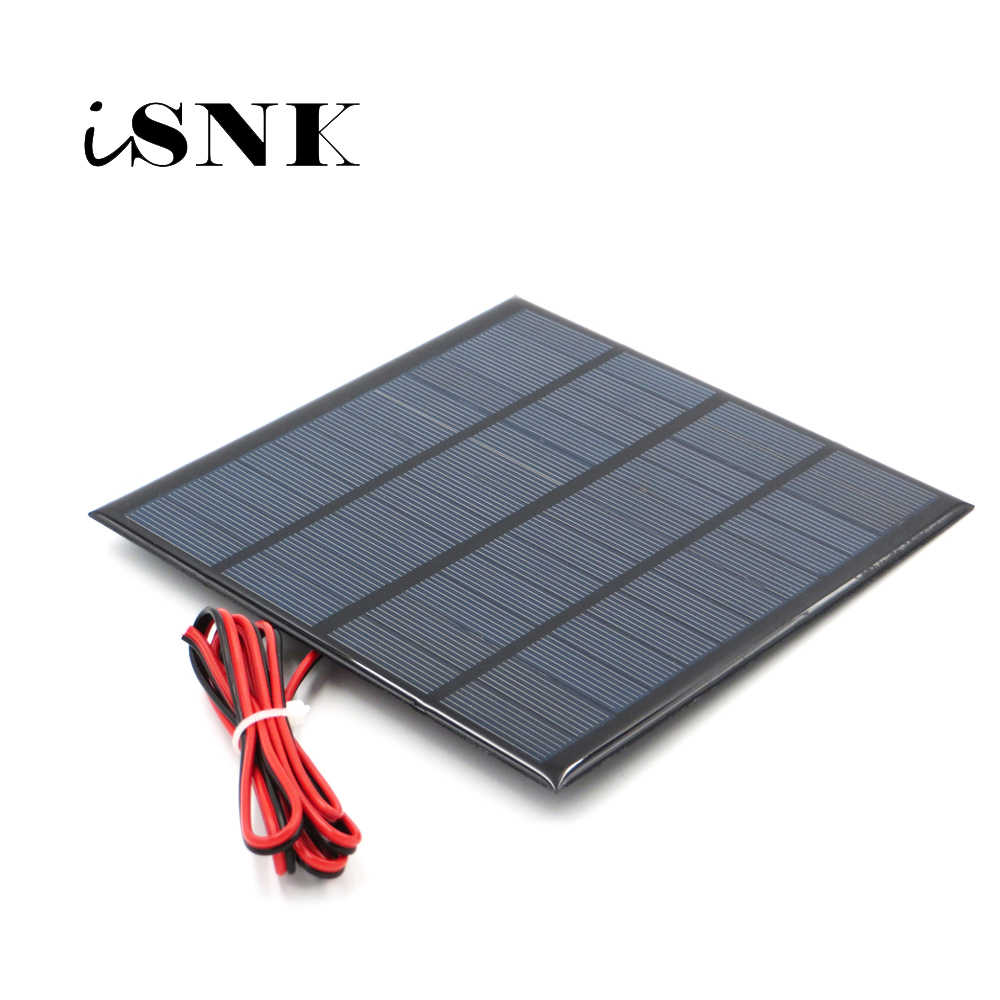 12V 18V Solar Panel with 100/200cm wire Mini Solar System DIY For Battery Cell Phone Charger 1.8W 1.92W 2W 2.5W 3W 1.5W 4.5W 5W