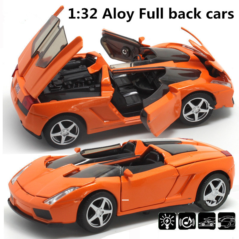 Top Popular Supercar 1:32 Alloy Model Pull Back Toy Car
