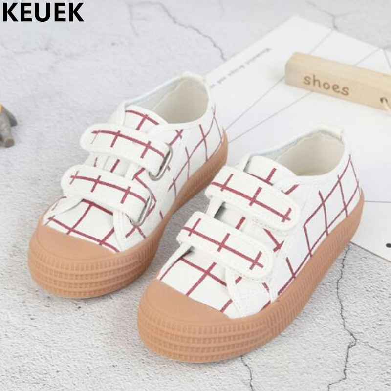 New Spring/Autumn Children Canvas Shoes Boys Girls Espadrilles Hook & Loop Baby Toddler Single Shoes Flats Kids Sneakers 02