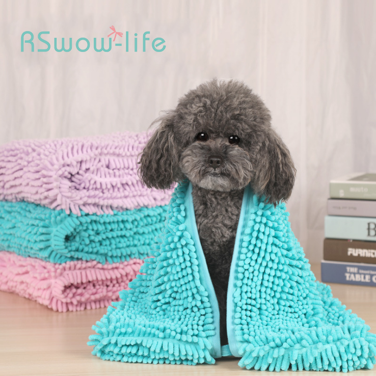 Dog Absorbent Towel Polyester Cotton Absorbent Pet Absorbent Towel Cat and Dog Cleaning Products Household Pet Supplies in Dog Accessories from Home Garden