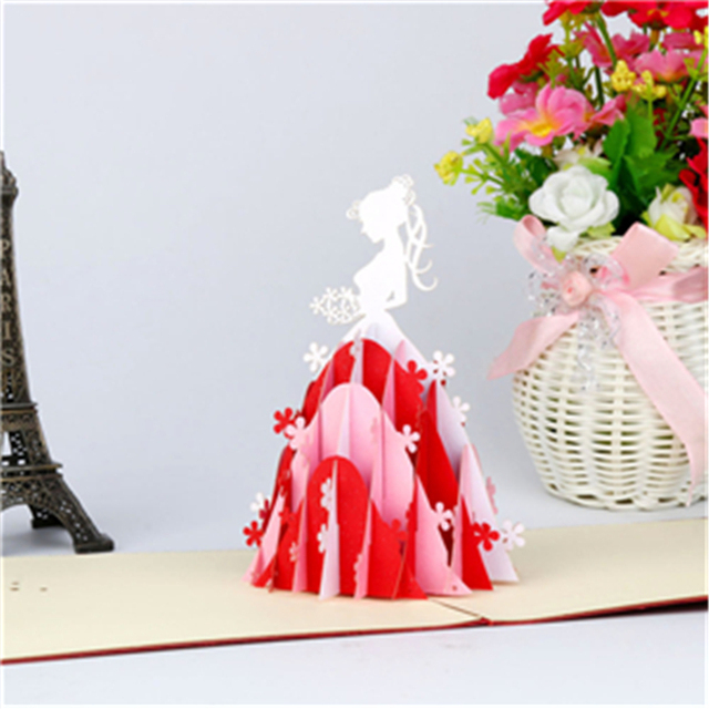 Fashion style greeting card 3d pop up valentine lover happy birthday fashion style greeting card 3d pop up valentine lover happy birthday anniversary greeting cards carte postale m4hsunfo