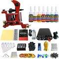 Solong Татуировки Новый Начинающий 1 Pro Machine Gun Татуировки Kit Питания Иглы Ручки совет 7 цветов набор чернил TK105-66