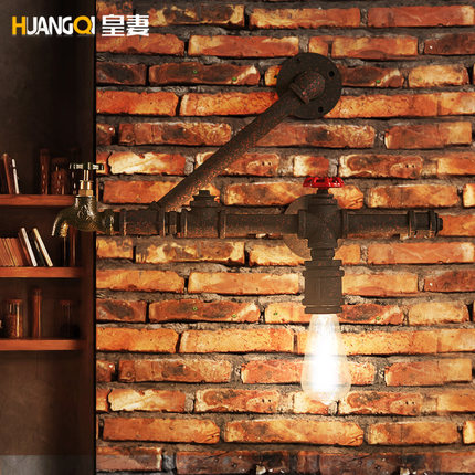 Loft Wall Lights 1 lamp American Style Industrial Wall Light Creative Water Pipes Retro Light Restaurant Features Edison Lamps