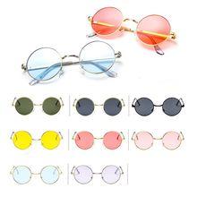 Vintage Round Sunglasses Women Ocean Color Lens Mirror eyeglasses Female Brand Design