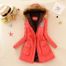 Women Thick Winter Large Size Long Section Hooded parka outerwear new fashion fur collar Slim padded cotton warm coat Jacket цена в Москве и Питере