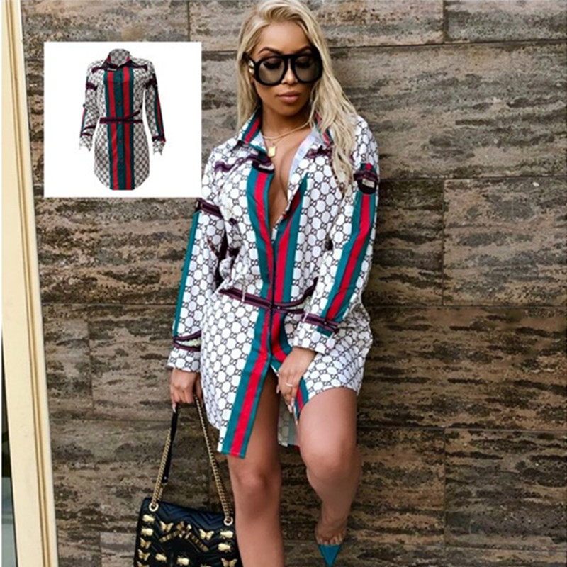 African Women's Dress Dashiki Super Large Fashion Printed Long Sleeve Shirt With Lapel Lady African Dresses For Women 2019 New