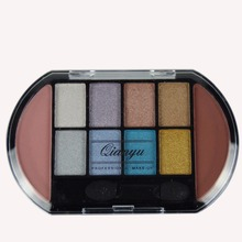 MEIS Brand Makeup Cosmetics Professional Makeup  Colors Eye shadow 2 Color Blusher palette Blush Eyeshadow Palette Glitter MS849