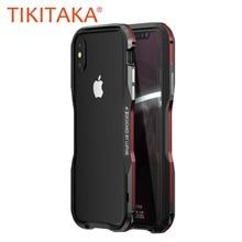Quadro de alumínio 360 caso de telefone armadura protetora para iphone x xs max xr capa de metal pára choques para iphone 7 8 plus caso coque
