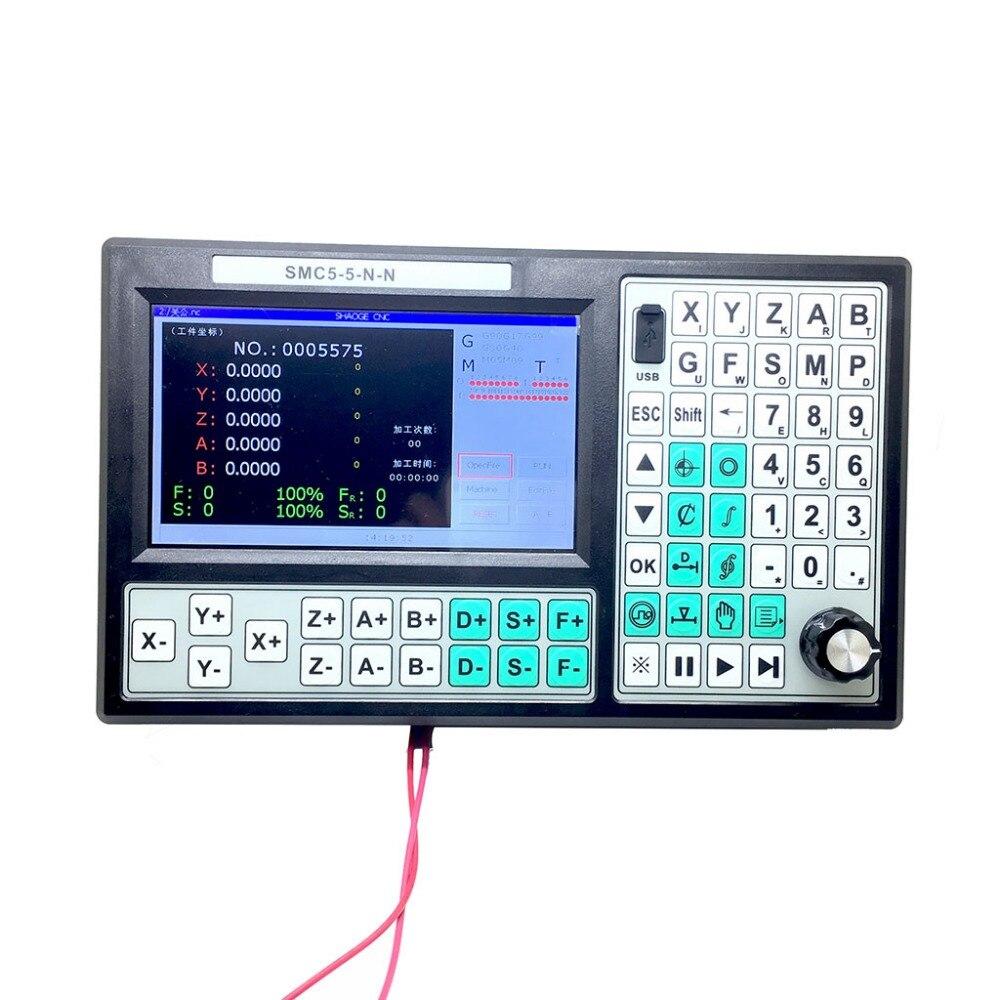 CNC 5 Assi Stand alone motion controller offline CNC controller 500 KHz sostituire Mach3 USB Controller di Movimento 7 pollice grande schermo