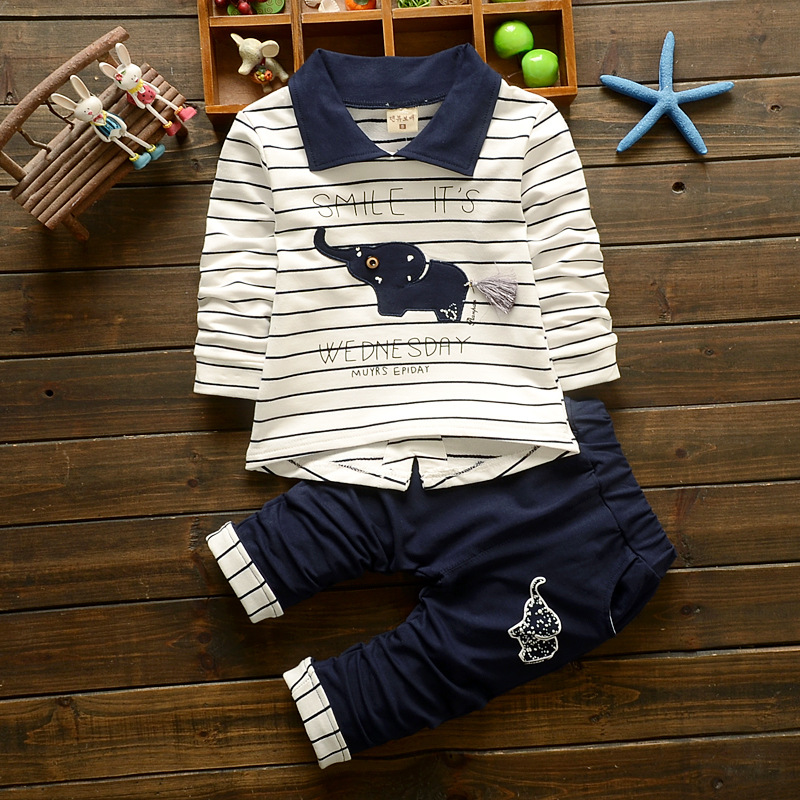 BibiCola Spring Autumn Baby boys Clothing Set toddler Clothes set Striped T-shirt+Pants 2pcs Sport Suit kids outfits tracksuit bibicola autumn baby boys clothing set gentleman outfits infant tracksuit 3pcs plaid t shirt pants vest sets bebe sport suit