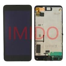 Dla Nokia Lumia 630 RM 977 RM 978 wyświetlacz LCD + montaż digitizera ekranu dotykowego + części wymienne do ramy