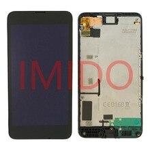 لنوكيا Lumia 630 RM 977 RM 978 شاشة الكريستال السائل مجموعة المحولات الرقمية لشاشة تعمل بلمس الإطار استبدال أجزاء