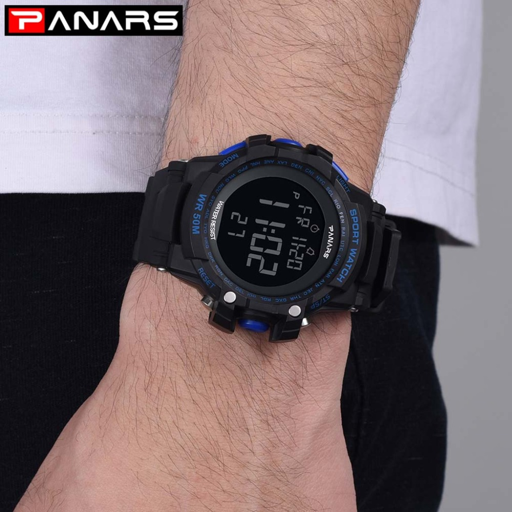 Man Watch Liquid Crystal Display Digital Electronic Movement Relojes Para Hombre Men's Watches Erkek Kol Saati Clock Mechanis@50