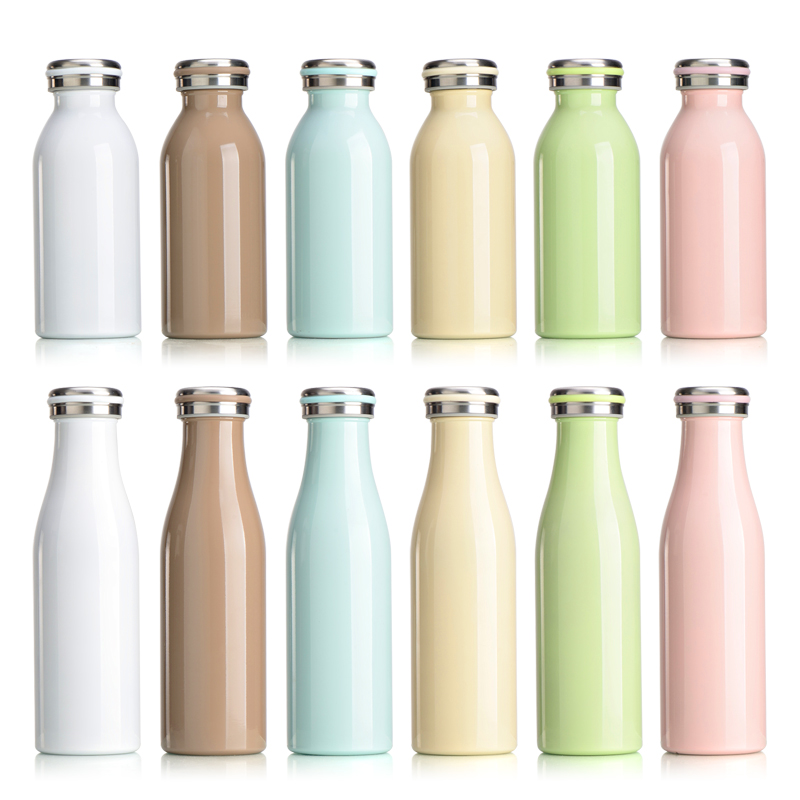 350/500ML Wine bottle shape stainless steel Vacuum Thermos Milk Coffee bowling School Children Water