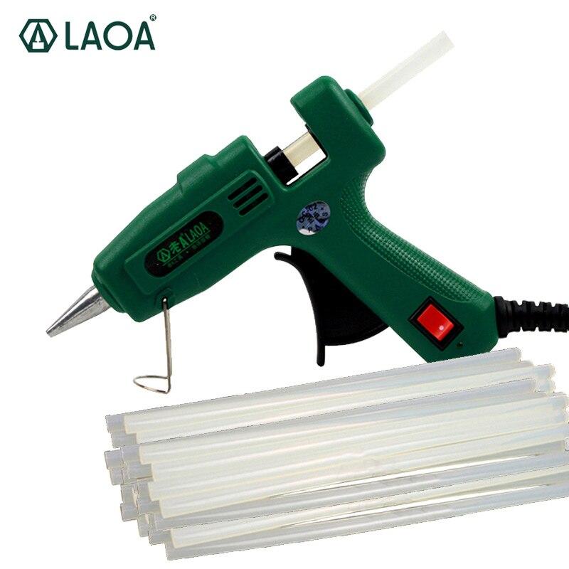 LAOA 25 W/100 W Hot Melt Kleber Gun Pistolet eine colle Mini Für Metall Holz Arbeits Stick Papier haarnadel PU Blumen Mit EU stecker