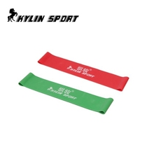 Green and red combination latex resistance bands  workout exercise pilates yoga loop wrist ankle elastic belt