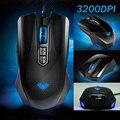 3200 DPI AULA muertes vida ajustable USB Wired Gaming Mouse alta precisión Anime del diseño por ordenador Dota ratón 2 GW 2 Gaming Mouse