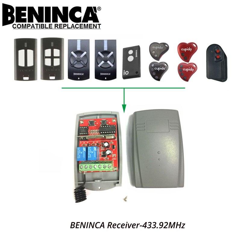 2-CH BENINCA TOGO IO Gate/Garage Door Opener Replacement Receiver DC 12-24V hot selling garage door gate opener control board receiver 220v ac 2 channels receiver module 10pcs lot