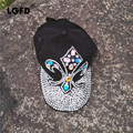 2016D55  cotton bling bling Rhinestone   diamond anchor  GLASS hat  black   baseball caps