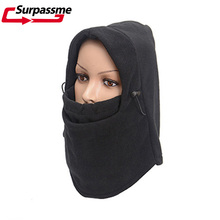Fleece Balaclava Motorcycle Full Face Mask Winter Warm Thermal Women Cycling Sports Hood Ski