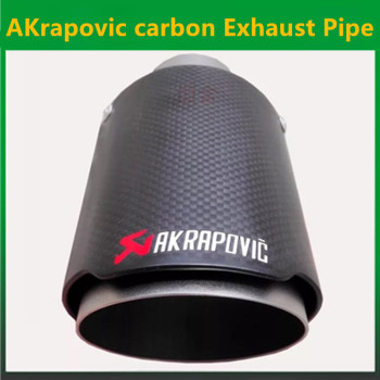 1PCS Exquisite style Inlet (63mm) Outlet (76mm) Akrapovic Carbon Fiber Exhaust End Tips Exhaust pipe For BMW Audi VW Accessories bmw f30 akrapovic auspuffblende