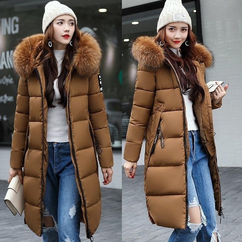 Women Long Warm Coat Faux Fur Hoodies Parkas Woman Wadded Down Jackets Cotton Clothing Plus Size Christmas Gifts