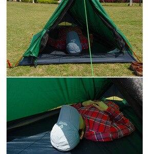 Image 3 - Туристическая палатка A Tower, на 1 человек, водонепроницаемая одноместная двухслойная, 20D силиконовая, Ультралегкая, для одного лагеря