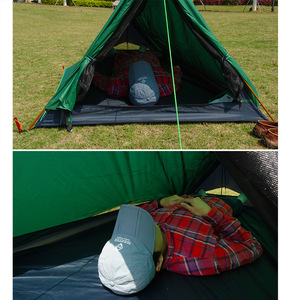 Image 3 - A Tower Outdoor Camping Tent for 1 Person Backpacking Waterproof Single Solo Bivvy Tent 20D Silicone Camp Ultralight Tent 1 Man
