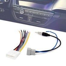 1 комплект, автомобильный FM антенный кабель, соединительный кабель и радио, стерео провод, кабель для Nissan/LiWei/Qashqai/Sunny/Tiida и т. д.
